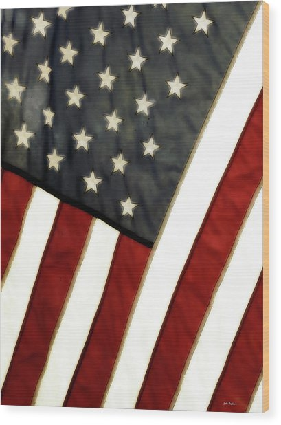 Variations On Old Glory No.4 Wood Print