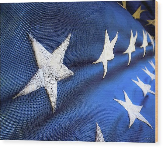 Variations On Old Glory No.5 Wood Print