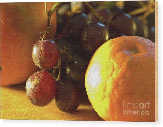 Various Fruit Wood Print