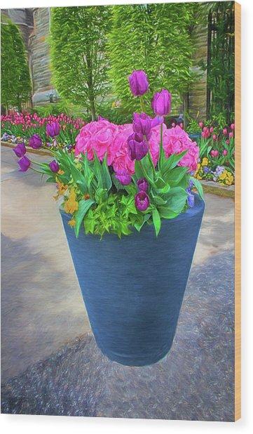 Vase And Flowers Series 05 Wood Print