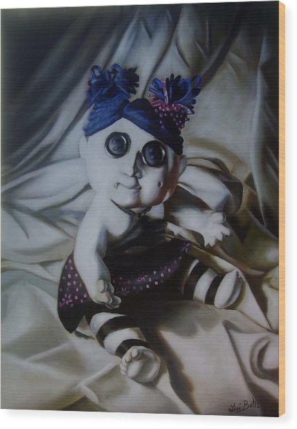 Vashler Baby Doll Wood Print by Lori Keilwitz