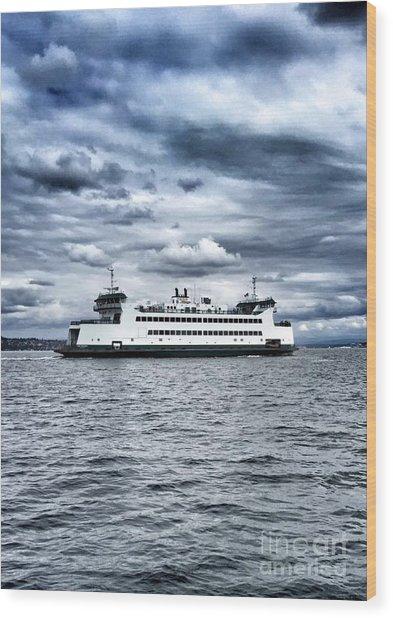 Vashon Island Ferry Wood Print