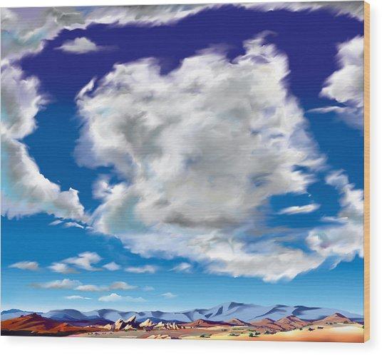 Vasquez Cloud Wood Print by Steve Beaumont