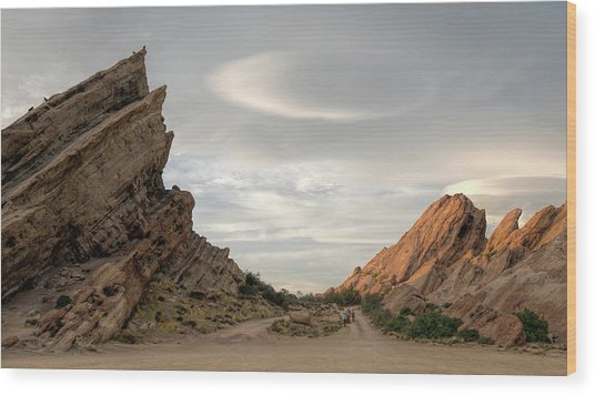 Vasquez Rocks Late Afternoon Wood Print by Michael Hope