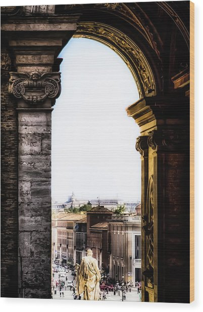 Vatican City - The Arch View Wood Print
