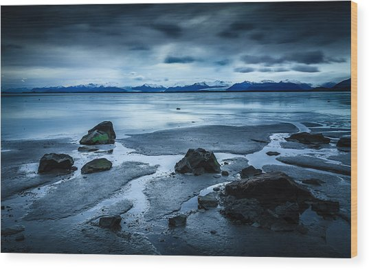 Vatnajokull From Stokksnes Wood Print