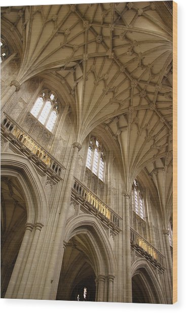 Vaulted Ceiling Wood Print by Michael Hudson
