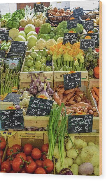 Veg At Marche Provencal Wood Print