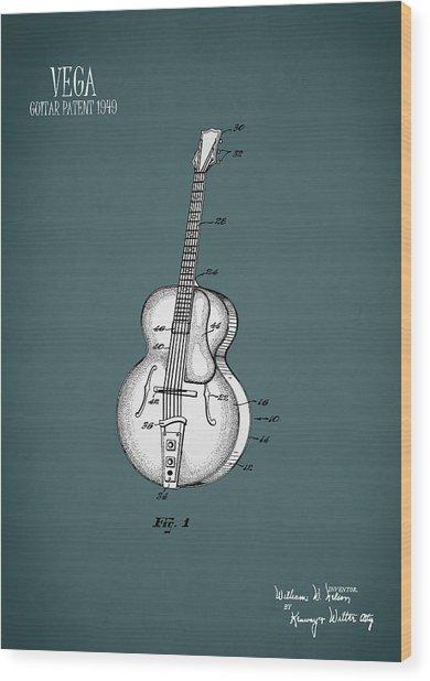 Vega Guitar Patent 1949 Wood Print