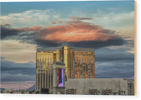 Wood Print featuring the photograph Vegas by Michael Rogers