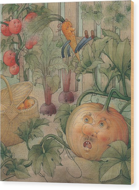 Vegetables Wood Print by Kestutis Kasparavicius