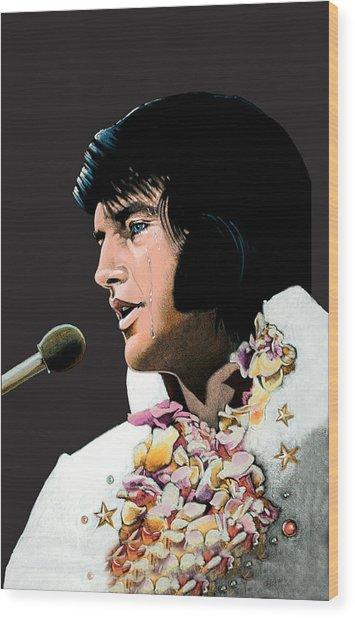 Velvet Elvis Wood Print