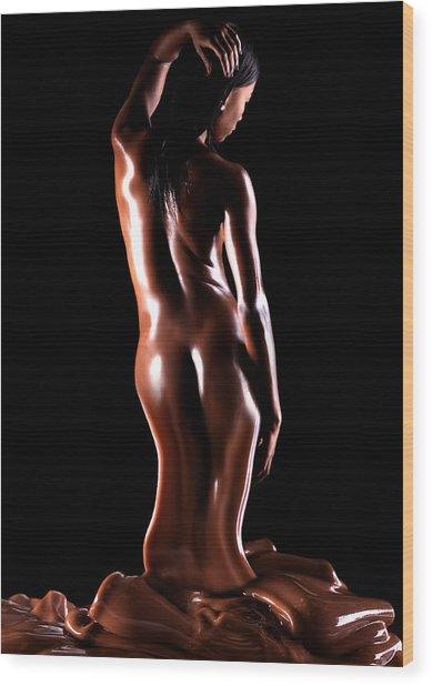 Velvet Ribbons Wood Print by Dario Infini