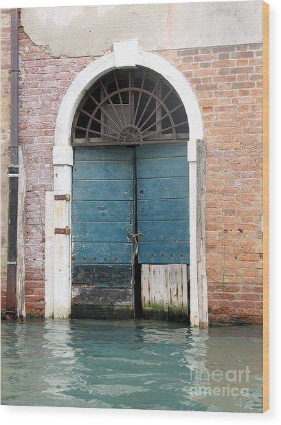 Venetian Door Wood Print
