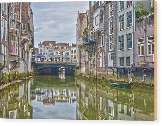 Venetian Vibe In Dordrecht Wood Print