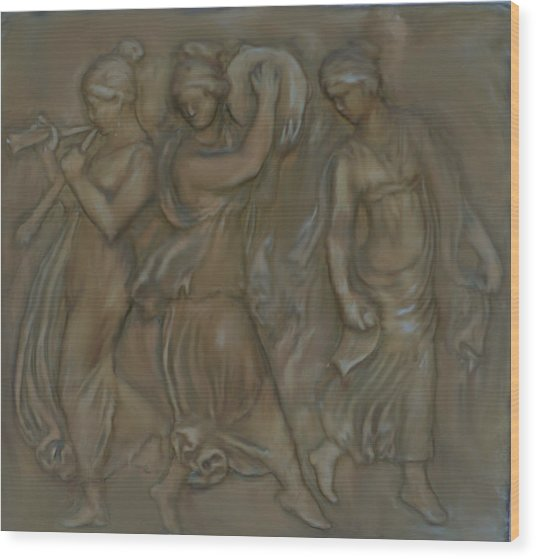 Venetian Water Bearer's Wood Print by Robert Bewick