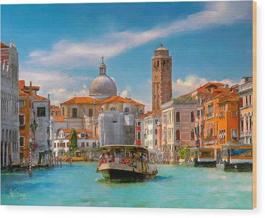 Venezia. Fermata San Marcuola Wood Print