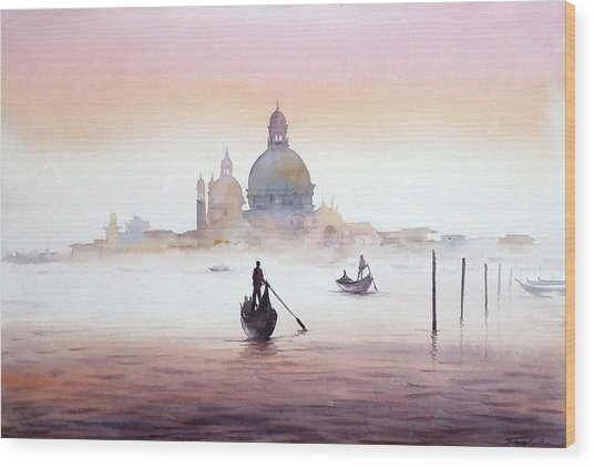Venice At Early Morning Wood Print