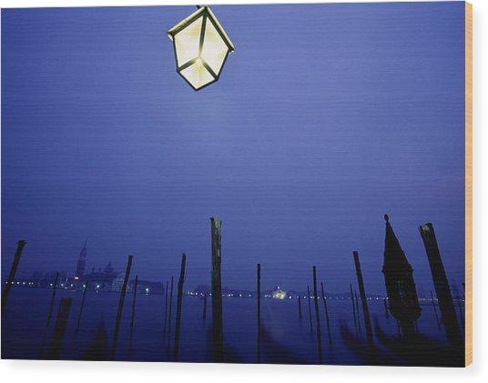 Venice Wood Print by Brad Rickerby
