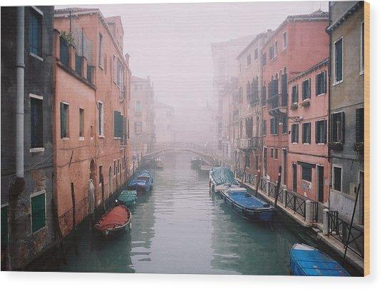 Venice Canal I Wood Print by Kathy Schumann