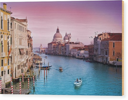 Venice Canale Grande Italy Wood Print