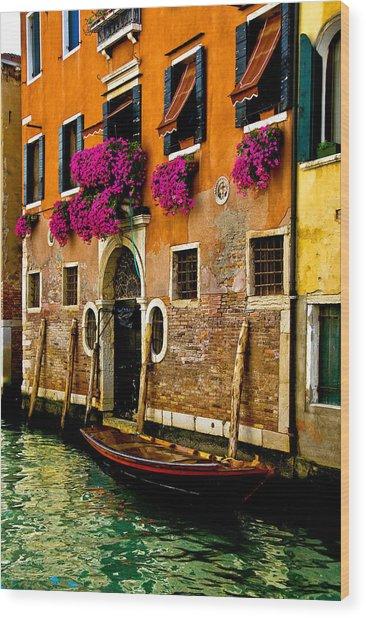Venice Facade Wood Print