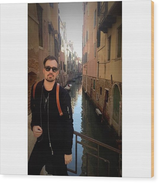 venice. Finally Made It :) Wood Print by Dustin Belt