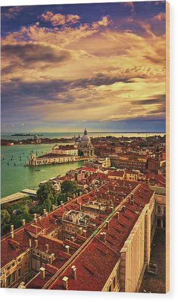 Venice From The Bell Tower Wood Print