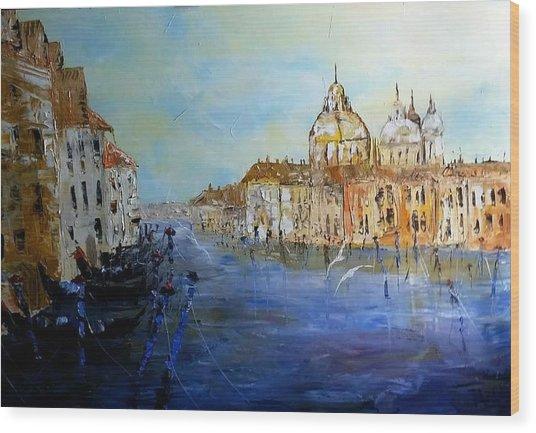 Venice Oil Sketch  Wood Print