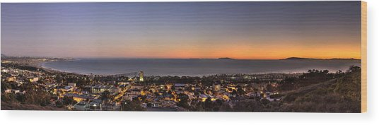 Ventura, Anacapa And Santa Cruz Islands Hdr Wood Print