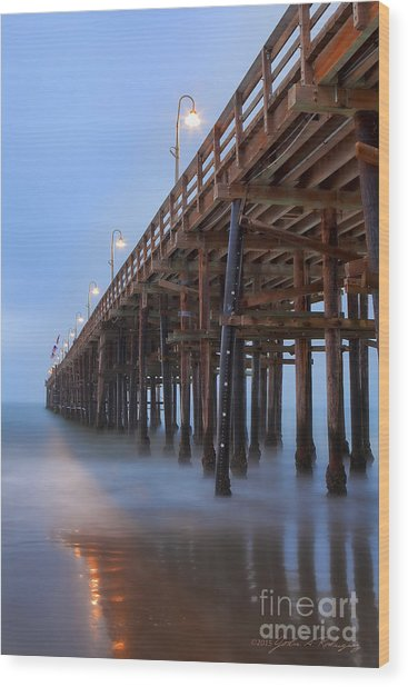 Ventura Ca Pier At Dawn Wood Print