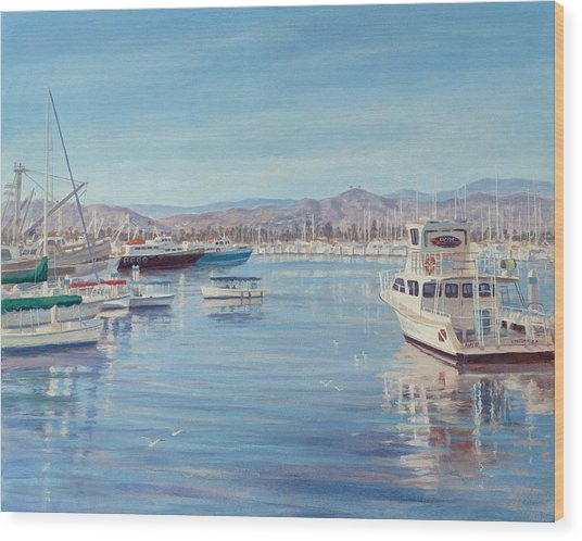 Ventura Harbor II Wood Print by Tina Obrien