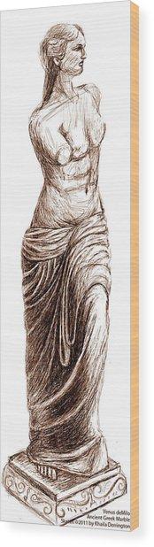 Venus Demilo Wood Print by Khaila Derrington