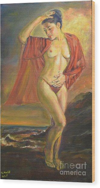 Venus From The Sea Wood Print