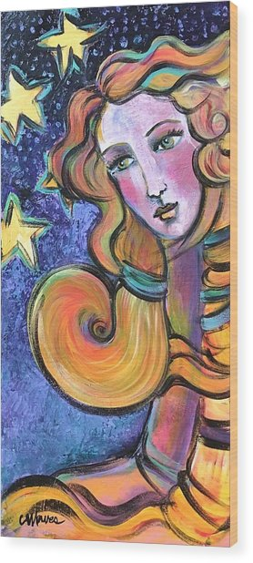Wood Print featuring the painting Venus Of Barbosso  by Laurie Maves ART