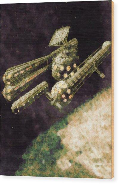 Venus Research Station Wood Print