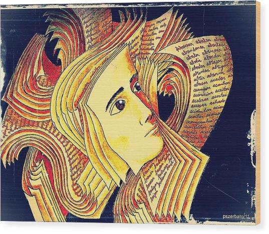 Verbal And Non Verbal Language Wood Print