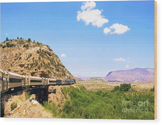 Verde Valley Train  Wood Print