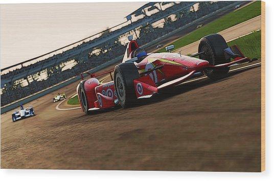 Verizon Indycar Series - 2 Wood Print by Andrea Mazzocchetti