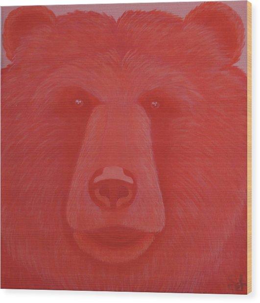Vermillion Bear Wood Print