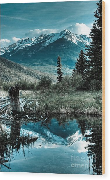 Vermillion Lake Wood Print