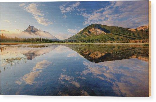 Vermilion Reflections Wood Print
