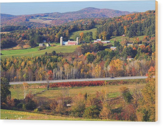 Vermont Countryside View Pownal Wood Print
