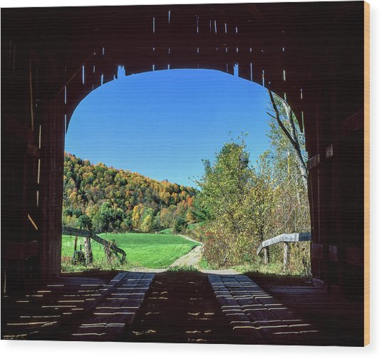 Vermont Covered Bridge Wood Print