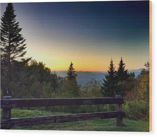 Vermont Evening Wood Print