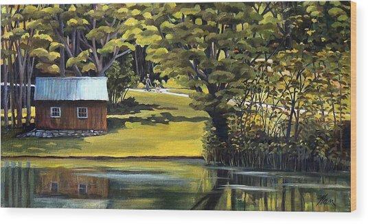 Vermont Greens Wood Print