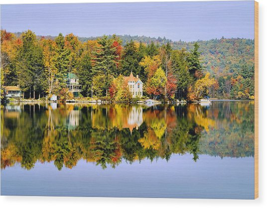 Vermont Reflections Wood Print