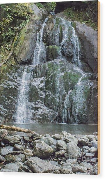 Vermont Waterfall Wood Print