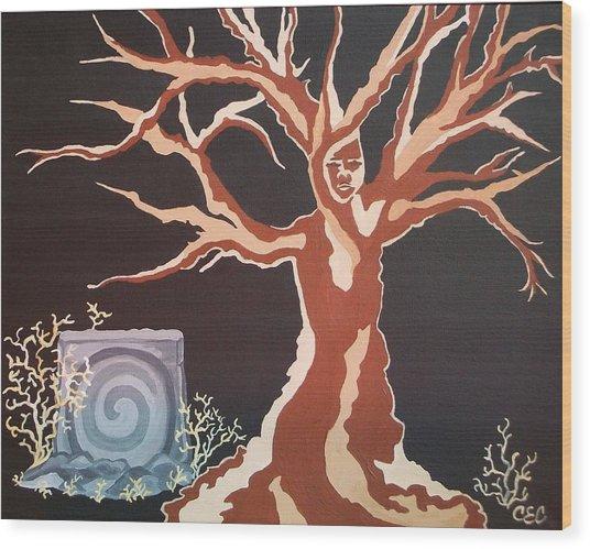 Vernal Keep Wood Print by Carolyn Cable