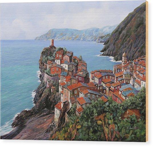 pomeriggio a Bellagio anzi a Vernazza Wood Print